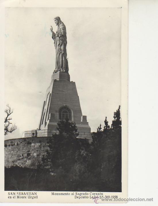 SAN SEBASTIAN.MONUMENTO EN MONTE URGELL. VEA MAS POSTALES EN RASTRILLOPORTOBELLO (Postales - España - País Vasco Moderna (desde 1940))