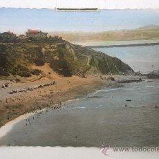 Postales: POSTAL DE ALGORTA (VIZCAYA): PLAYA DE ARRIGUNAGA - EDIT GARABELLA (CIRCULADA 1961). Lote 21957948