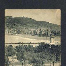 Postales: POSTAL DE SAN SEBASTIAN (GUIPUZCOA): PASEO DE LA ZURRIOLA Y BARRIO DE GROS (HAUSER Y MENET NUM.1516). Lote 22070511