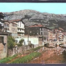 Postales: POSTAL DE AZCOITIA - VISTA PARCIAL Y RIO UROLA. Lote 27077959