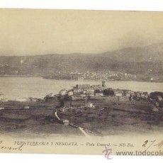 Postales: FUENTERRABIA Y HENDAYA- GUIPUZCOA-VISTA GENERAL - FOTO ND - CIRCULADA 1903. Lote 26918864