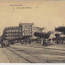 Postales: SAN SEBASTIÁN - CALLE DE HERNANI. Lote 22657131
