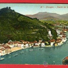 Postales: PASAGES, GUIPUZCOA, PUERTO DE SAN JUAN, P43746. Lote 22669376