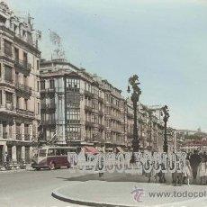 Postales: + BILBAO AÑO 1959 LOPEZ DE HARO PRECIOSO TROLEBUS NO TRANVIA. COLOREADA.. Lote 22777062