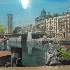 Postales: BILBAO 1 HACIA 1960 MUELLE DE LA RIPA COLOREADA. Lote 22780568