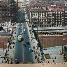 Postales: + BILBAO 1970 PUENTE DE LA VICTORIA TROLEBUS. Lote 22780575