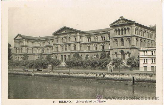 TARJETA POSTAL ESPAÑA MODERNA 1.940, Nº 14, BILBAO, UNIVERSIDAD DE DEUSTO (Postales - España - País Vasco Moderna (desde 1940))