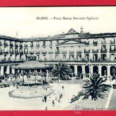 Postales: BILBAO, VIZCAYA, PLAZA NUEVA MERCADO AGRICOLA, P44900. Lote 23144131