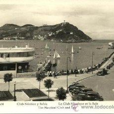 Postales: SAN SEBASTIAN - CLUB NÁUTICO Y BAHÍA - AÑOS 50 - MANIPEL RTO. Nº 142205. Lote 23458620
