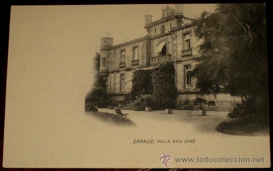 ANTIGUA POSTAL DE ZARAUZ - VILLA SAN JOSE - HAUSER Y MENET - SIN CIRCULAR (Postales - España - Pais Vasco Antigua (hasta 1939))