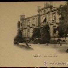 Postales: ANTIGUA POSTAL DE ZARAUZ - VILLA SAN JOSE - HAUSER Y MENET - SIN CIRCULAR. Lote 24054516