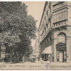 Postales: SAN SEBASTIAN - EL BOULEVARD. Lote 24297923