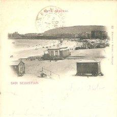Postales: SAN SEBASTIAN VISTA GENERAL (CIRCULADA EL 27/06/1899). Lote 27180169