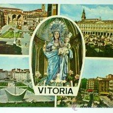Postales: POSTAL VITORIA CUATRO VISTAS Y VIRGEN EDICIONES PARÍS 1965 ESCRITA. Lote 24407643