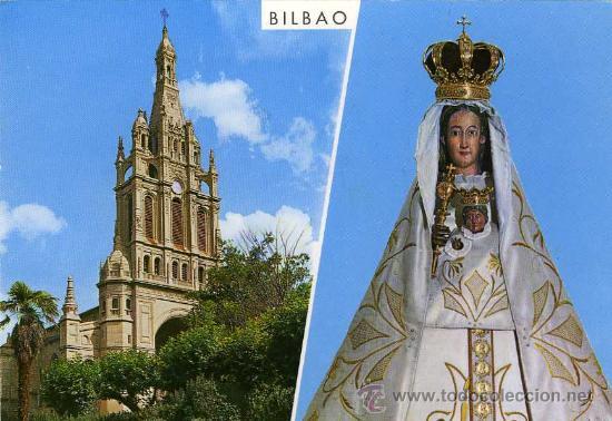 Postal Bilbao Basilica E Imagen De Nuestra Senora De Begona