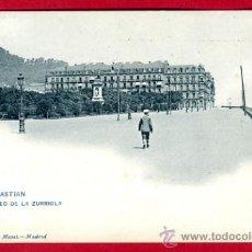 Postales: SAN SEBASTIAN, GUIPUZCOA, PASEO DE LA ZURRIOLA, P49762. Lote 24758112