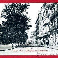 Postales: SAN SEBASTIAN, GUIPUZCOA, BOULEVARD, P49799. Lote 24759035