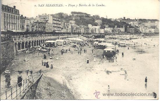 Usado, PS2599 SAN SEBASTIÁN 'PLAYA Y HOTELES DE LA CONCHA'. SEGUNDO CONGRESO TUBERCULOSIS 1912 segunda mano