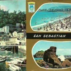 Postales: SAN SEBASTIAN - SERIE ORO - 1964 (CIRCULADA). Lote 25055820