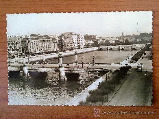 POSTAL SAN SEBASTIAN RIO URUMEA Y PUENTES (Postales - España - País Vasco Moderna (desde 1940))