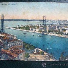 Postales: POSTAL DE PORTUGALETE Y ARENAS.PUENTE.CIRCULADA EN EL AÑO 1931.. Lote 26742702