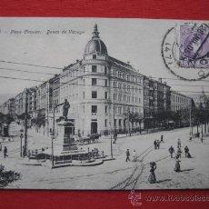 Postales: BILBAO PLAZA CIRCULAR BANCA DE VIZCAYA TARJETA POSTAL CIRCULADA AÑO 1905 TP-8216. Lote 25375246