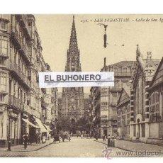 Postales: 152 SAN SEBASTIAN - CALLE DE SAN IGANCIO DE LOYOLA - FOTO G. G. GALARSA. Lote 27226741