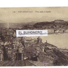 Postales: 246 SAN SEBASTIAN - VISTA DESDE EL CASTILLO - FOTO G. G. GALARSA. Lote 27226742