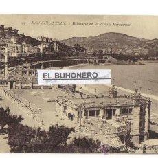 Postales: 99 SAN SEBASTIAN - BALNEARIO DE LA PERLA Y MIRACONCHA - FOTO G. G. GALARSA. Lote 27246309