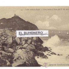 Postales: 99 SAN SEBASTIAN -VISTA DESDE EL PASEO DEL P. DE ASTURIAS - FOTO G. G. GALARSA. Lote 27246310