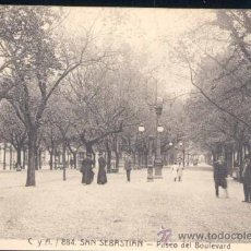 Postales: SAN SEBASTIAN( GUIPUZCOA).- PASEO DEL BOULEVARD. Lote 25524429