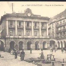 Postales: SAN SEBASTIAN( GUIPUZCOA).- PLAZA DE LA CONSTITUCIÓN. Lote 25524453