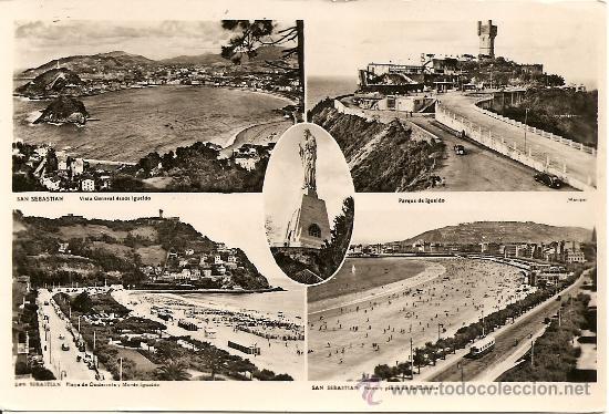 SAN SEBASTIAN - VARIAS VISTAS (Postales - España - Pais Vasco Antigua (hasta 1939))