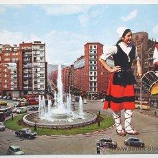 Postales: VIZCAYA. BILBAO. FUENTE MONUMENTAL DE LA PLAZA ZABÁLBURU.. Lote 26841687