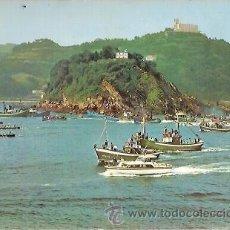 Postales: POSTAL A COLOR 65 SAN SEBASTIAN REGATA DE TRAINERAS MANIPEL. Lote 26848781