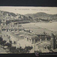 """Postales: """"SAN SEBASTIÁN. BALNEARIO DE LA PERLA"""". CIRCULADA, ESCRITA Y SELLO 10 CTS ALFONSO XIII (10-8-17). Lote 26912528"""