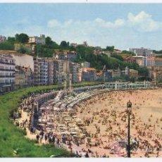 Cartes Postales: POSTAL PANORÁMICA SAN SEBASTIAN - 24X11 CM - PASEO Y PLAYA DE LA CONCHA - GALARZA 1966. Lote 27240032