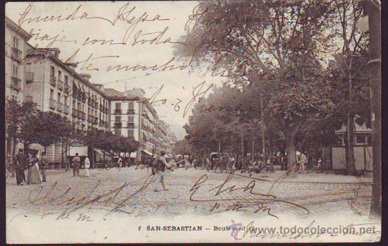 SAN SEBASTIAN. BOULEVARD (Postales - España - Pais Vasco Antigua (hasta 1939))