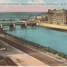 Postales: SAN SEBASTIAN.79 NUEVO PUENTE DE LA ZURRIOLA.GRAN KURSAAL. M.D.. Lote 27578074