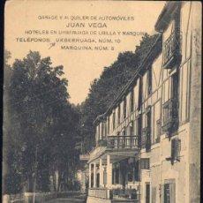 Postales: URBERUAGA (VIZCAYA).- HOTELES EN URBERUAGA DE UBILLA Y MARQUINA. Lote 27730373