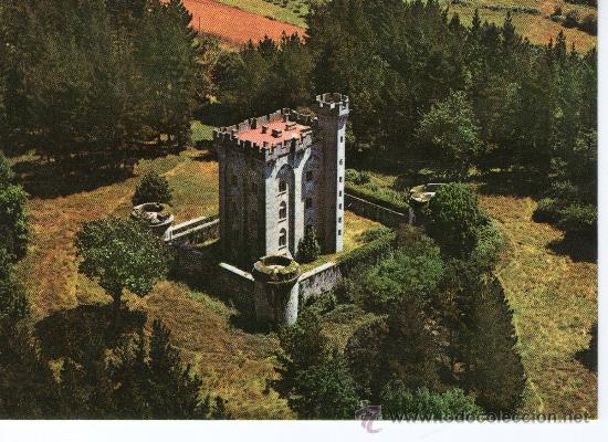 POSTAL DE VIZCAYA , ARTEAGA, CASTILLO VISTA AEREA Nº 103 (Postales - España - País Vasco Moderna (desde 1940))