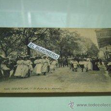 Postales: 183.-SAN SEBASTIAN- EL PASEO DE LA ALAMEDA . Lote 27886559