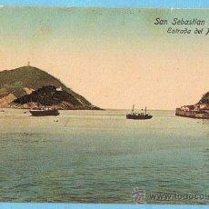 Postales: SAN SEBASTIÁN. ENTRADA DEL PUERTO. DR. TRENKLER CO. LEIPZIG, 1908. S. SEB.15.. Lote 28002923