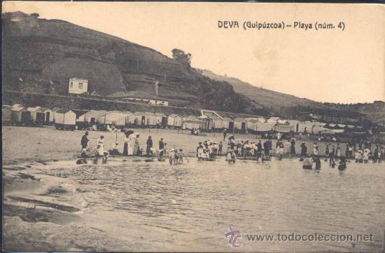 DEVA (GUIPUZCOA).- PLAYA (Postales - España - Pais Vasco Antigua (hasta 1939))