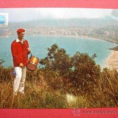 Postales: POSTAL. SAN SEBASTIÁN. CHISTULARI Y BAHÍA. AÑO 1963. Lote 28299636