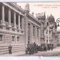 Postales: BILBAO - 14 - ESTACION DE SANTANDER - ROISIN - ( 7817). Lote 28351036