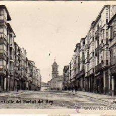 Postales: VITORIA. ALAVA. FOTOGRÁFICA CALLE DEL PORTA DLE REY. ALSINA Nº20. MÁRGARA. ESCRITA EN 1931. . Lote 28504056
