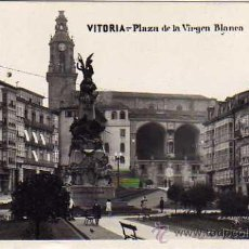 Postales: VITORIA. ALAVA. FOTOGRÁFICA PLAZA DE LA VIRGEN BLANCA. ALSINA Nº9. MÁRGARA. CIRCULADA.. Lote 28504068