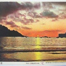 Postales: GUIPUZCOA. SAN SEBASTIAN. PUESTA DE SOL.. Lote 28699326