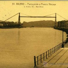 Postales: POSTAL BILBAO PORTUGALETE Y PUENTE VIZCAYA. Lote 29029742